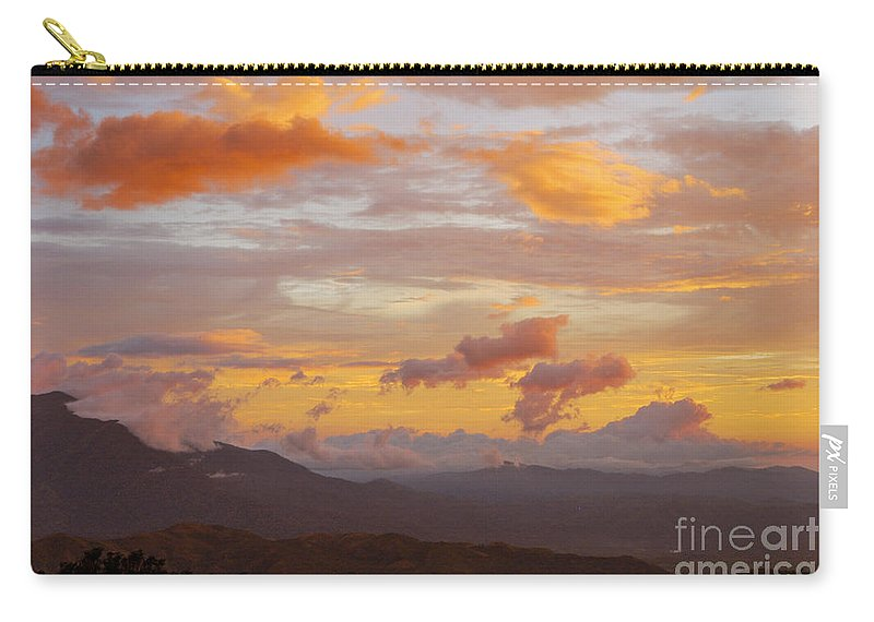 Atenas Costa Rica Sky Skies Sunset Sunsets Cloud Clouds Landscape Landscapes Carry-all Pouch featuring the photograph Costa Rica Evening Sky by Bob Phillips
