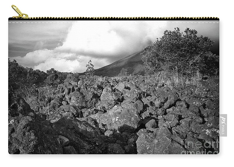 Volcano Carry-all Pouch featuring the photograph Costa Rican Volcanic Rock by Madeline Ellis