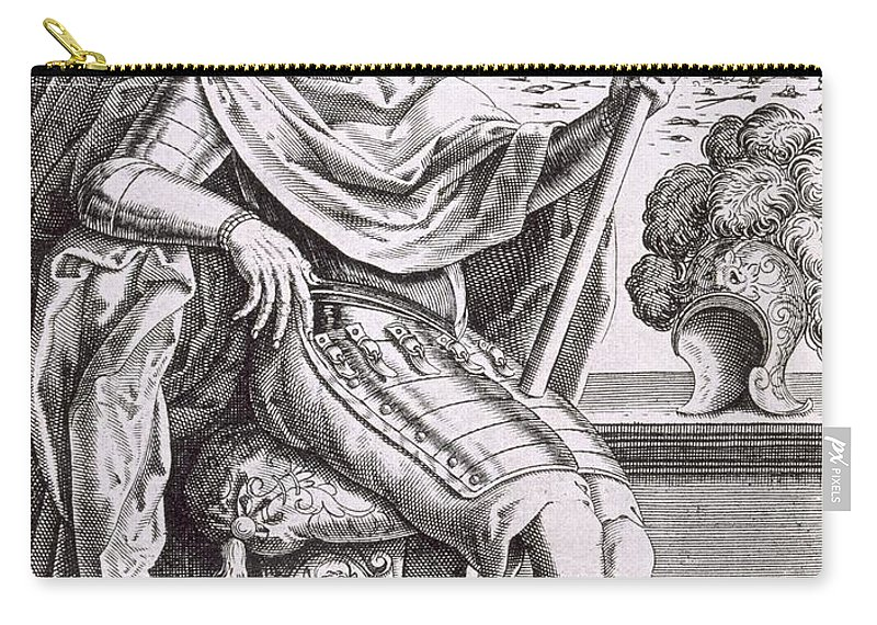 Costume Carry-all Pouch featuring the drawing Costume And Armour Of The Captain by Italian School