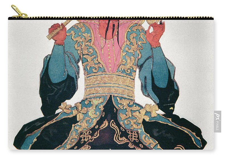 Male Carry-all Pouch featuring the drawing Costume Design For A Chinaman by Leon Bakst