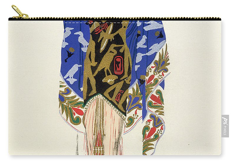 Dancer Carry-all Pouch featuring the drawing Costume Design For A Dancing Girl by Leon Bakst