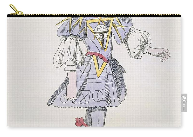 Baroque Carry-all Pouch featuring the drawing Costume Design For Geometry In A 17th by French School
