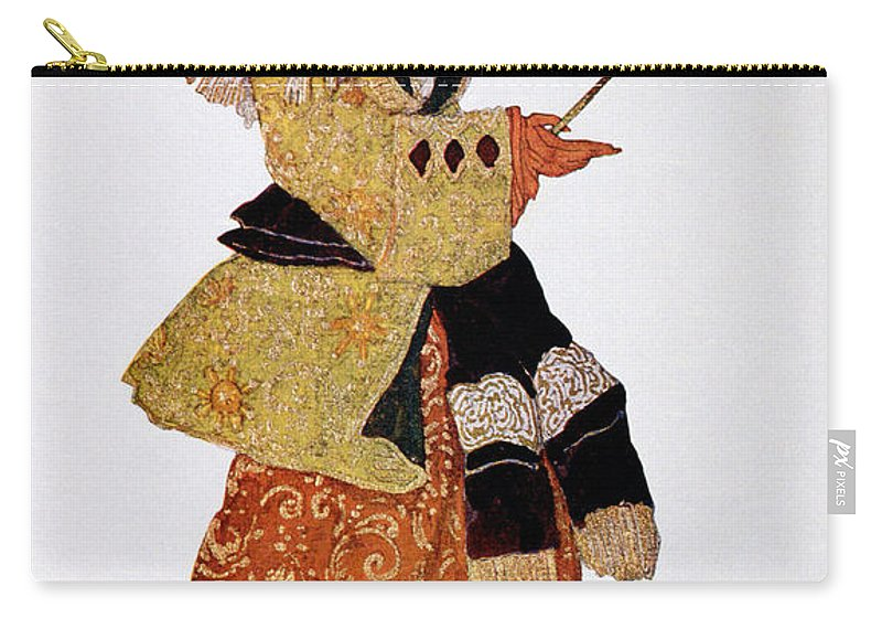 Female Carry-all Pouch featuring the drawing Costume Design For The Marchioness by Leon Bakst