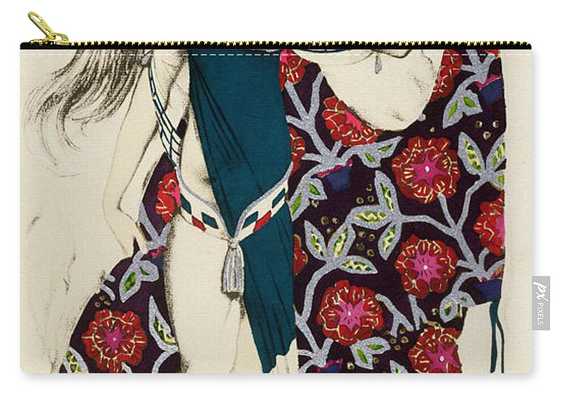 Leon Bakst Carry-all Pouch featuring the painting Costume Design by Leon Bakst