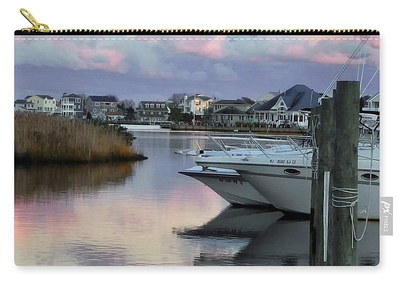 Portrait Carry-all Pouch featuring the photograph Cotton Candy Clouds Two by Sami Martin