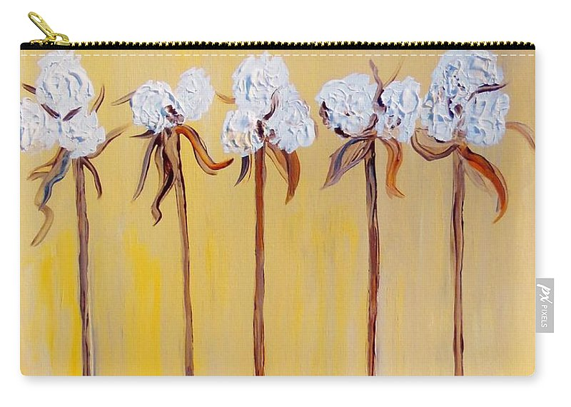 Cotton Carry-all Pouch featuring the painting Cotton Chorus Line by Eloise Schneider Mote