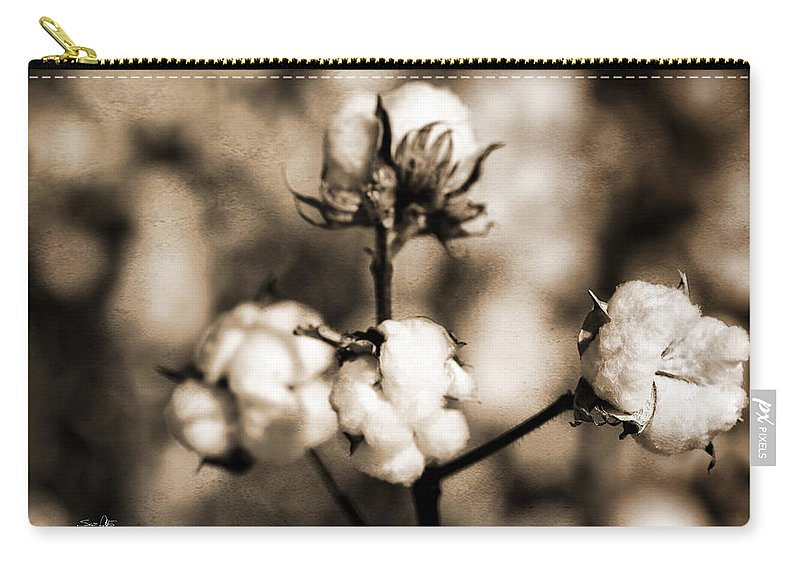 Cotton Carry-all Pouch featuring the photograph Cotton by Scott Pellegrin