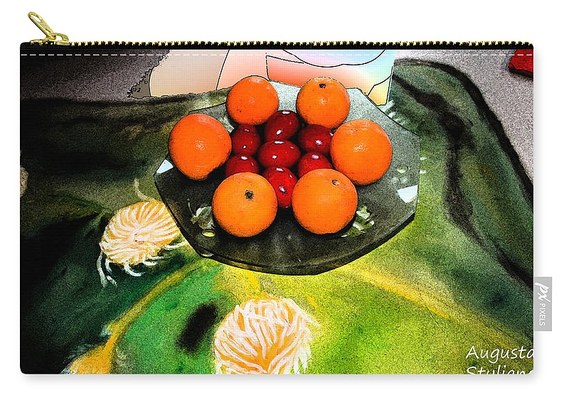 Augusta Stylianou Carry-all Pouch featuring the digital art Coulouful Easter by Augusta Stylianou