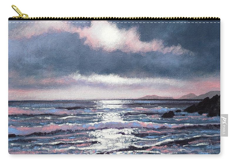 Acrylic Carry-all Pouch featuring the painting Coumeenole Beach Dingle Peninsula by John Nolan