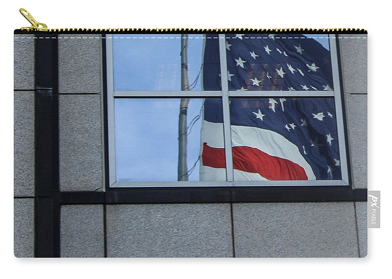 American Flag Carry-all Pouch featuring the photograph Counting Stars by Rene Triay Photography
