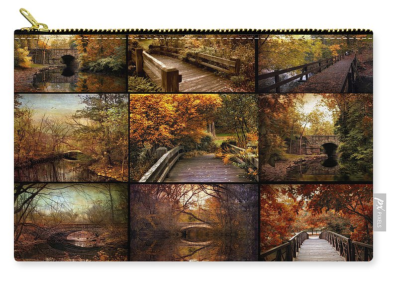 Bridges Carry-all Pouch featuring the photograph Country Bridges by Jessica Jenney