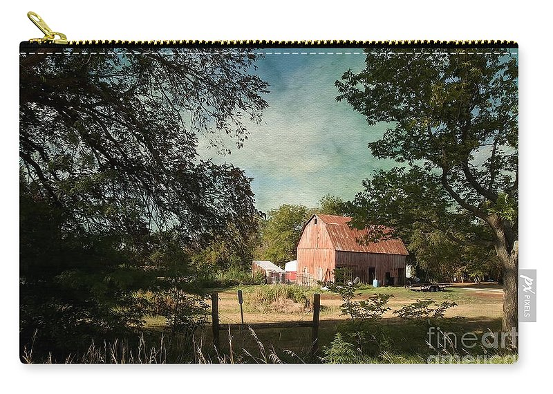Country Charm Carry-all Pouch featuring the photograph Country Charm by Liane Wright