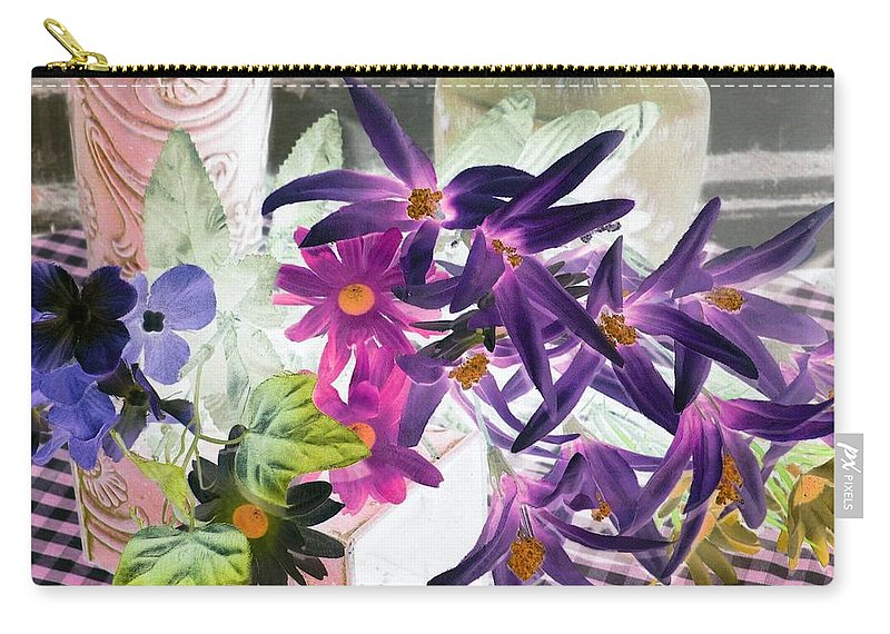 Flower Carry-all Pouch featuring the photograph Country Comfort - Photopower 522 by Pamela Critchlow