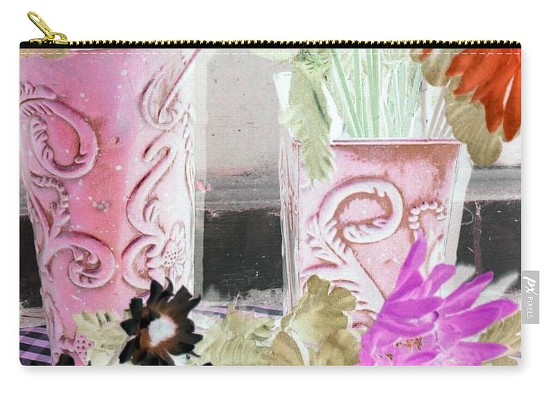 Flower Carry-all Pouch featuring the photograph Country Comfort - Photopower 535 by Pamela Critchlow
