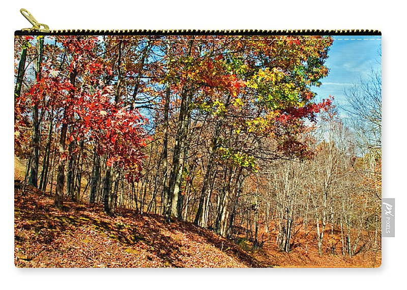 West Virginia Carry-all Pouch featuring the photograph Country Curves And Vultures by Steve Harrington