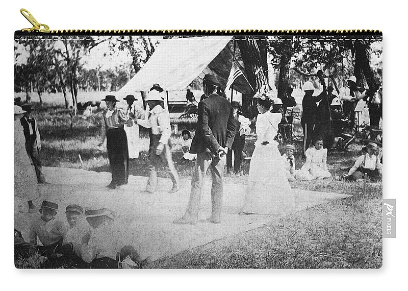 19th Century Carry-all Pouch featuring the photograph Country Dance, 19th Century by Granger
