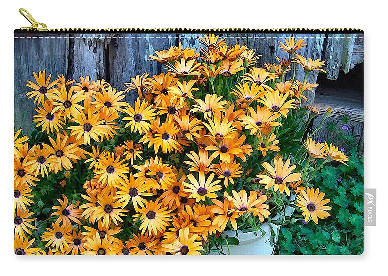 Flower Carry-all Pouch featuring the photograph Country Floral by Nadine Lewis