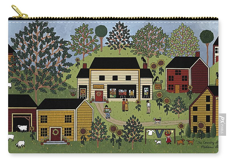 Folk Art Carry-all Pouch featuring the painting Country Gallery by Medana Gabbard