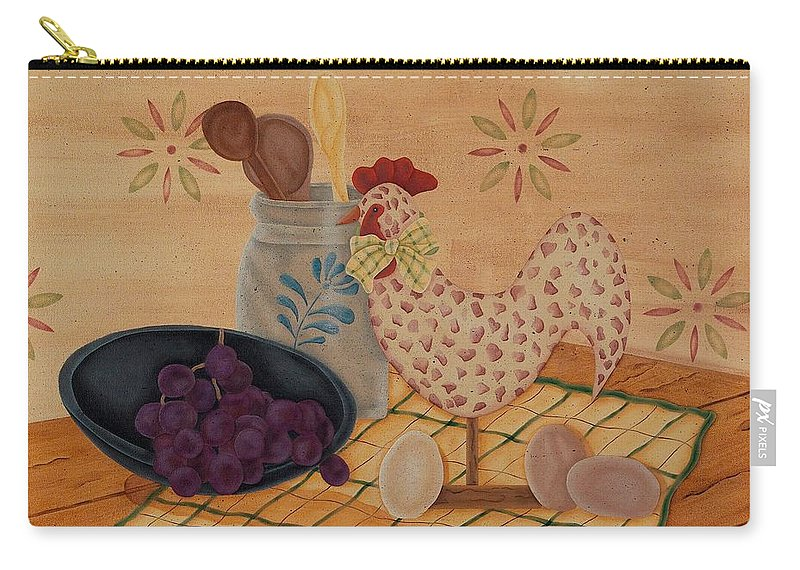 Rooster Carry-all Pouch featuring the painting Country Kitchen by Tracy Campbell