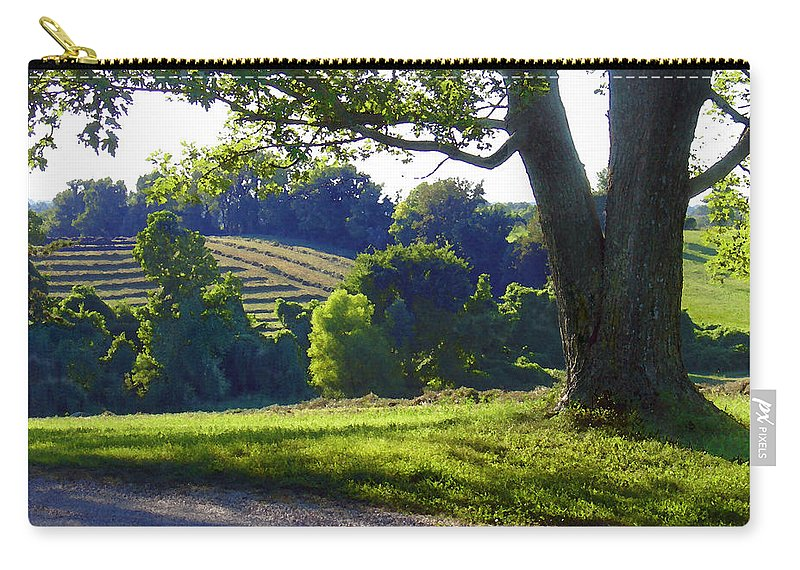 Landscape Carry-all Pouch featuring the photograph Country Landscape by Steve Karol