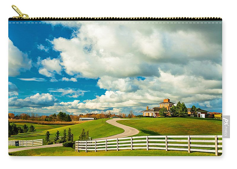 Ontario Carry-all Pouch featuring the photograph Country Living Painted by Steve Harrington
