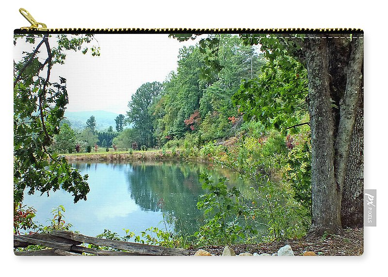 Duane Mccullough Carry-all Pouch featuring the photograph Country Pond by Duane McCullough