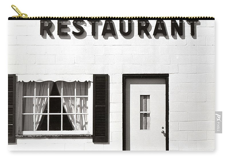 Restaurant Carry-all Pouch featuring the photograph Country Restaurant by Thomas Marchessault