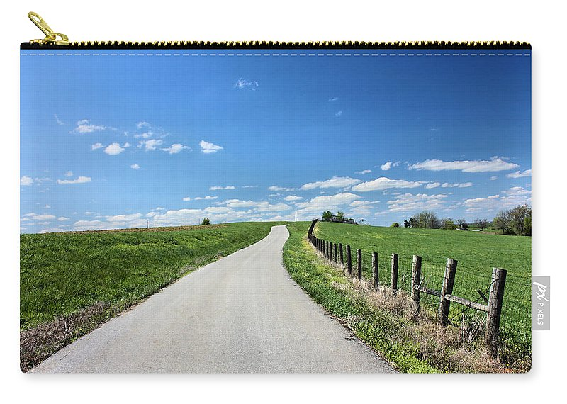Country Road Carry-all Pouch featuring the photograph Country Road by Kristin Elmquist