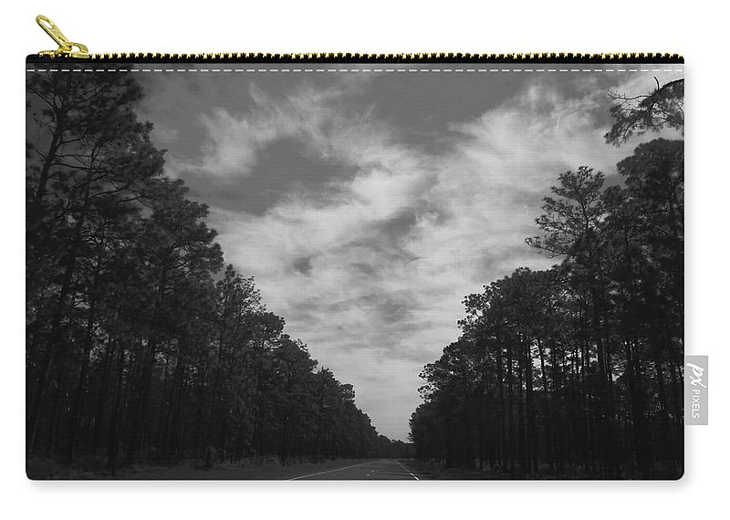 Country Carry-all Pouch featuring the photograph Country Roads by Debra Forand