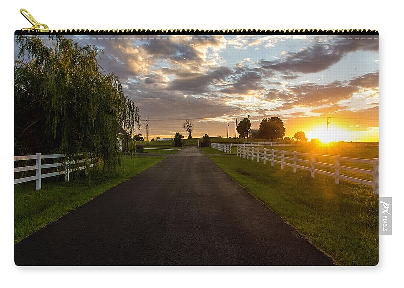 Country Carry-all Pouch featuring the photograph Country Setting by Daren Johnson