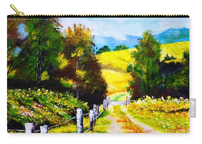 Country Side Carry-all Pouch featuring the painting Country Side by Ryszard Sleczka