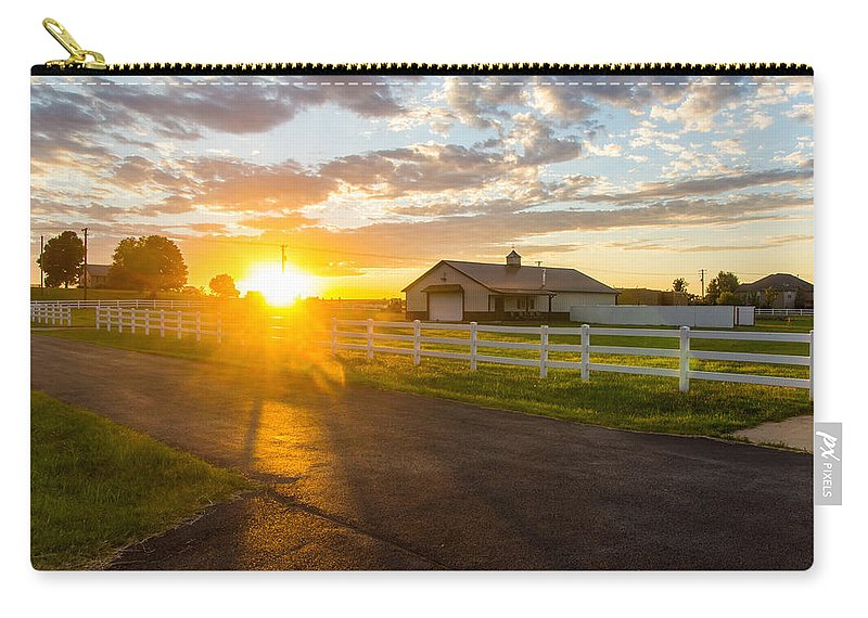 Country Carry-all Pouch featuring the photograph Country Skies by Daren Johnson