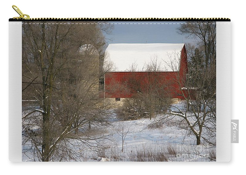 Winter Carry-all Pouch featuring the photograph Country Winter by Ann Horn