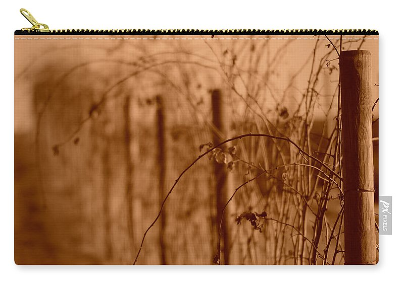 Fence Carry-all Pouch featuring the photograph Countryside Fence by Miguel Winterpacht