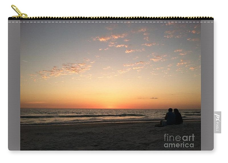 Couple Carry-all Pouch featuring the photograph Couple At Sunset by Melissa Darnell Glowacki
