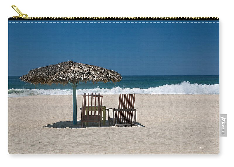 Beach Carry-all Pouch featuring the photograph Couple In The Shade by Jurgen Lorenzen