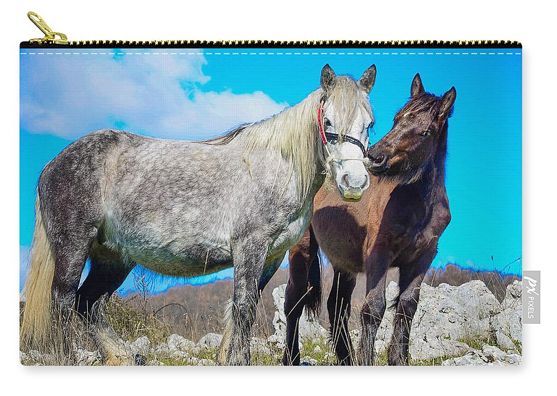 Black Carry-all Pouch featuring the photograph Tenderness by Dany Lison