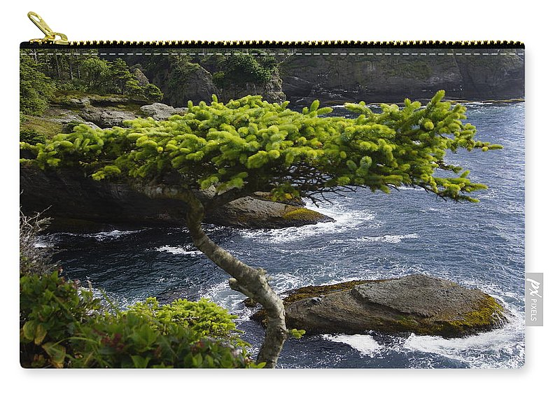 Tree Carry-all Pouch featuring the photograph Courageous Tree by Tayne Hunsaker