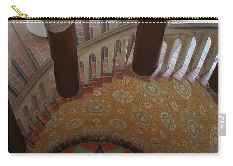 Courthouse Carry-all Pouch featuring the photograph Stairway Courthouse Santa Barbara by Christiane Schulze Art And Photography