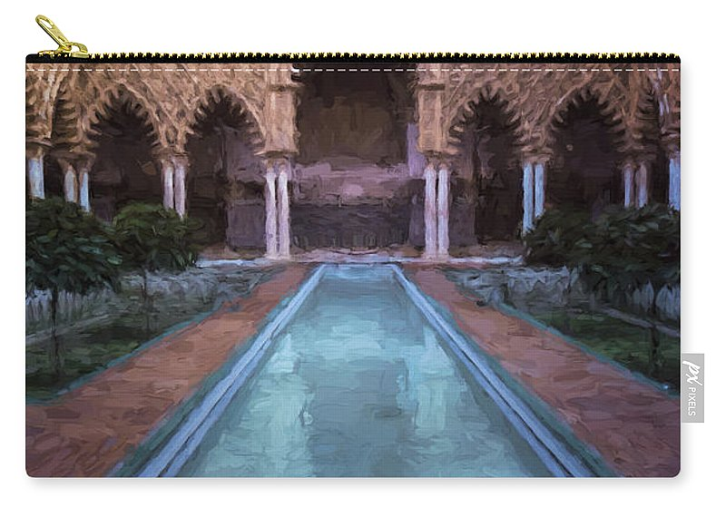 Joan Carroll Carry-all Pouch featuring the photograph Courtyard Of The Maidens by Joan Carroll