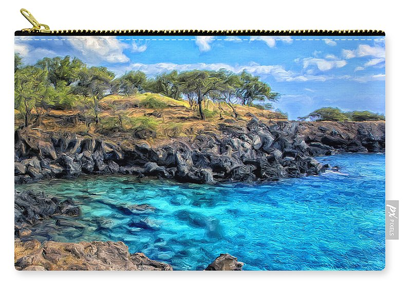 Cove Carry-all Pouch featuring the painting Cove At Mahukona by Dominic Piperata