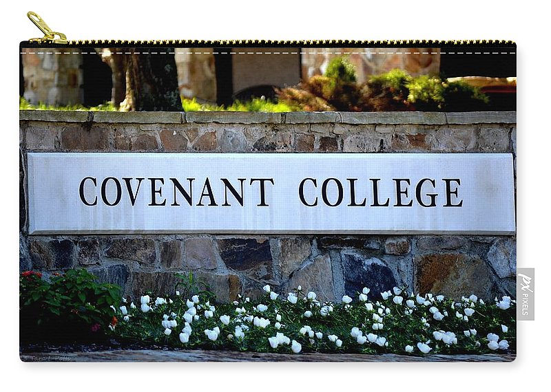 Covenant College Carry-all Pouch featuring the photograph Covenant College Sign by Tara Potts