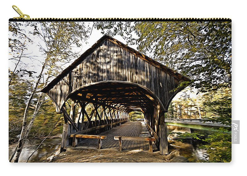 New England Carry-all Pouch featuring the photograph Covered Bridge by Bill Howard