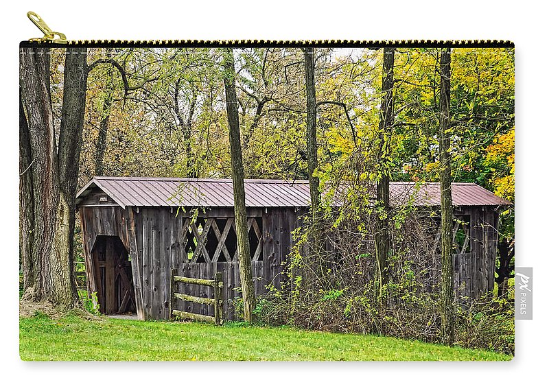 Covered Bridge Carry-all Pouch featuring the photograph Covered Bridge by Steve Harrington