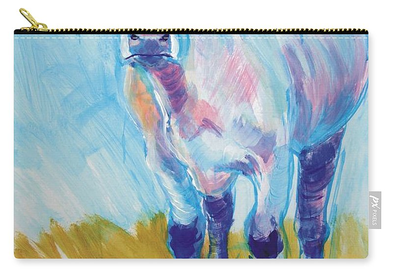 South Devon Carry-all Pouch featuring the painting Cow Painting by Mike Jory