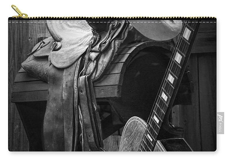 Landscape Carry-all Pouch featuring the photograph Cowboy Acoustic Guitar by Randall Nyhof
