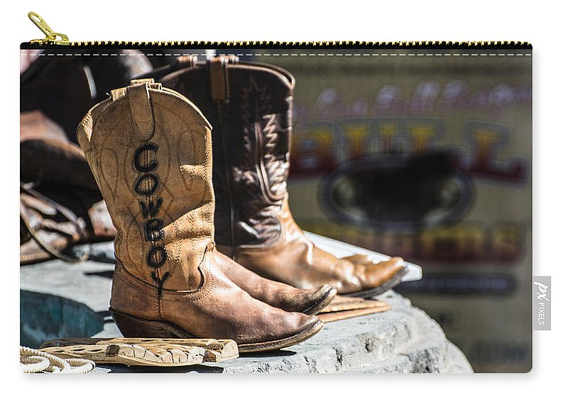 Cowboy Carry-all Pouch featuring the photograph Cowboy Boots by Michael Moriarty