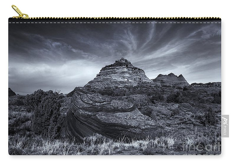 Coyote Buttes Carry-all Pouch featuring the photograph Coyote Buttes Cloud Explosion by Mike Dawson