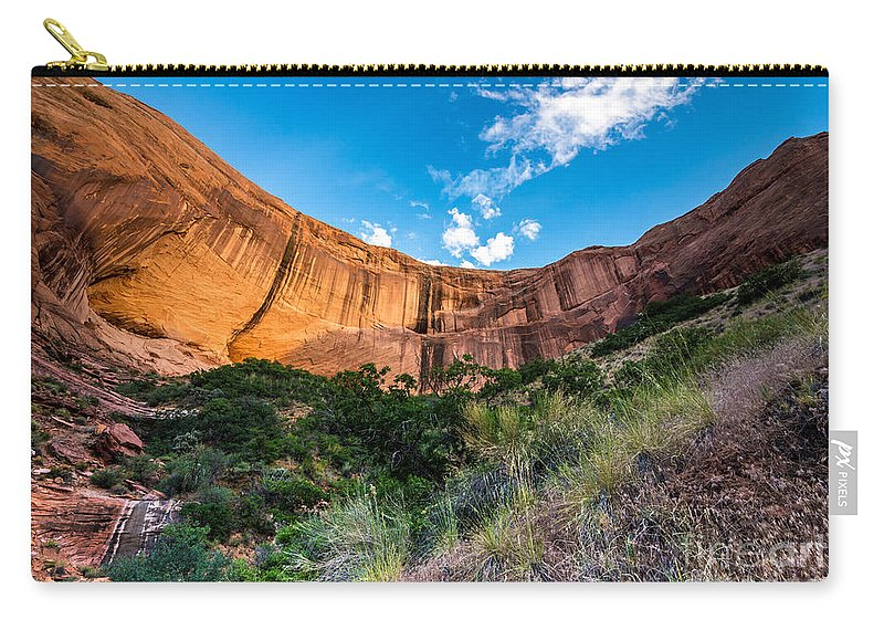 Coyote Gulch Carry-all Pouch featuring the photograph Coyote Gulch Sunset - Utah by Gary Whitton
