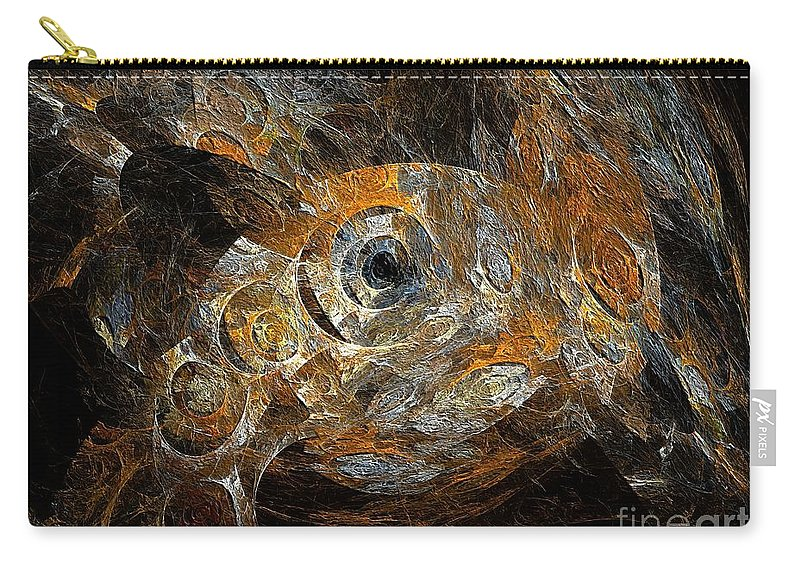 Crab Carry-all Pouch featuring the digital art Crab 594-11-13 Marucii by Marek Lutek
